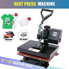 12 X 10 T Shirt Heat Press Sublimation Transfer Machine 360 Degree Swing Away