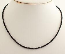 Natural Negro Turmalina Cadena de Piedra Preciosa Tallado en Facetas Collar