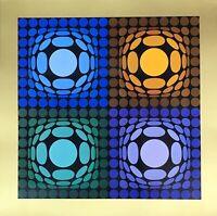 "RARE! VICTOR VASARELY (1908-1997) ""VEGA-BI-ARCT"" ORIGINAL HELIOGRAVURE ON PAPER"