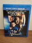 Enders Game (Blu-ray + DVD, 2014) Harrison Ford & Asa Butterfield - USED - VG**