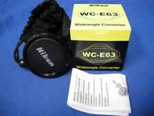 NEW NIKON WC-E63 WIDEANGLE CONVERTER 0.63x LENS