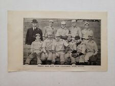 Fresno Giants & Bakersfield California High School 1905 Baseball Team Picture