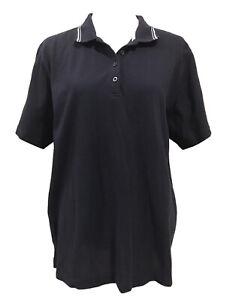 Ladies Size 18-20 Navy, Short Sleeve Polo Shirt/T-Shirt Top (VGC)