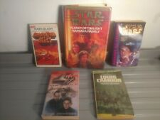 Vintage Sci-Fi 5 Book Lot Lost in Space/Star Wars/Damnation Alley 1972-99