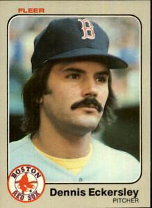 1983 Fleer Baseball Card #182 Dennis Eckersley
