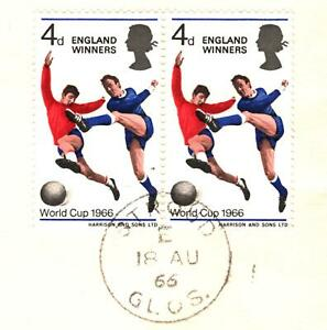 GB 1966 FDC WORLD CUP 4d First Day Cover Glos Stroud Football {samwells}GR8