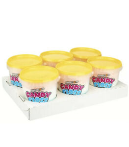 SWEET ZONE ~ Candy Floss Tubs 6 X  50g ~ Factory Sealed