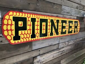 Antique Vintage Old Style Pioneer Corn Seed Feed Sign