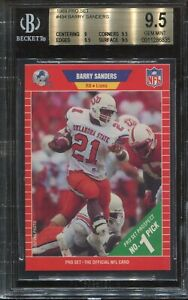 1989 Pro Set #494 Barry Sanders Rookie BGS 9.5 Gem Mint (Psa 10) HOF