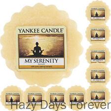 10 YANKEE CANDLE WAX TARTS My Serenity  MELTS