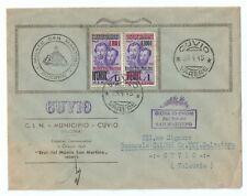 ITALIA 1945 LETTERA UFFICIALE CLN CUVIO COPPIA Lire 1 FRATELLI BANDIERA