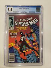 Amazing Spider-Man #252 CGC 7.5 1984 - 1st App. Black Costume / Venom Key Book