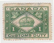 (JD-41) 1960 Canada 1c green customs duty