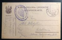 1917 Zegrze Kuk WWI Feldpost Polish Legion Poland Postcard Cover