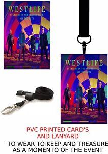 Westlife Tour 2021  PVC LANYARD PASS VIP  LANYARD