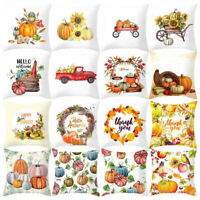 Fall Halloween Pumpkin Pillow Case Waist Throw Cushion Cover Sofa Home Decor