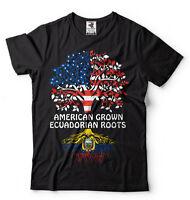 Ecuador T-shirt American Grown Ecuadorian Roots heritage Culture nationality Tee