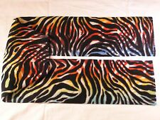 Rainbow Zebra Skin Multicolor Fleece Scarf