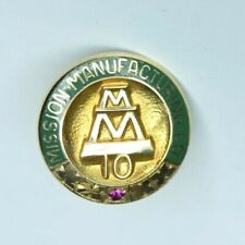 Vintage MISSION MANUFACTURING Co. 10 Year Service Pin Houston TX 10k Solid Gold