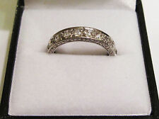 Edwardian Diamond Eternity Ring set in Solid Platinum