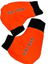 Ruderhandschuhe orange /schwarz mit Aufdruck, Rudern, Rowing, Poggies
