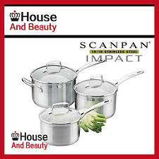 NEW Scanpan Impact 3pc Saucepan Set 16/18/20cm 22033 (RRP $315)