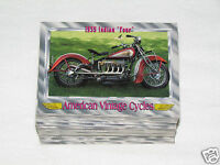 1993 CHAMPS AMERICAN VINTAGE CYCLES Series I Complete Trading Card Set #1-100