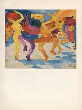 "1959 Vintage EMIL NOLDE ""THE GOLDEN CALF"" FANTASTIC COLOR Offset Lithograph"