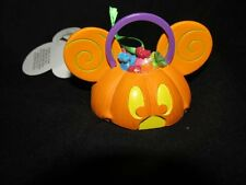 Disney Parks  Light Up  Pumpkin Mickey Mouse  Ear Hat Ornament  NEW