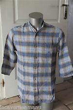 luxueuse chemise carreaux en lin AALLARD DE MÉGÈVE taille 40 (2) EXCELLENT ÉTAT