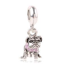 1pcs Silver dog European Charm Beads Fit 925 Necklace Bracelet Pendant Chain #1