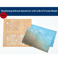 LIANG-0001 Weathering Airbrush Stencils Tools for 1/35 1/48 1/72 Scale Model