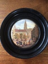 French Hand Painted Porcelain Plaque Painting STRASBOURGH  20th Century not KPM