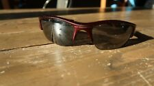 RARE COLOR Oakley Red Flake FLAK Jacket Sunglasses Scratched Lenses