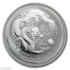Perth Mint Australia 2012 Lunar Dragon 1 oz .999 Silver Coin