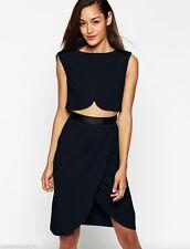 ASOS Polyester Patternless Sleeveless Dresses for Women