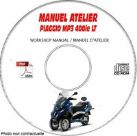 MP3 LT 400ie Manuel Atelier CDROM PIAGGIO Revue technique Expédition - --, Supp