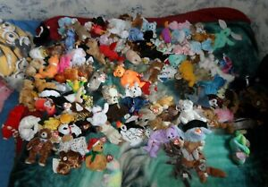 Ty Beanie Babies Bundle huge Job Lot 120 plus some rare most with tag protectors