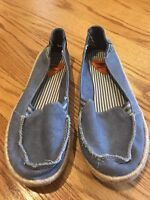 ROCKET DOG Denim Blue Canvas Mary Janes Ballet Flats Loafers Shoes Womens Sz 6 #