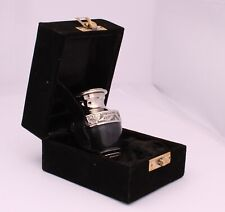 Mini keepsake ashes urn for token amount ashes Black and Silver PRICE DROP