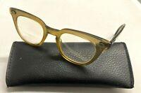 Vintage Bausch & Lomb B&L 5 1/2 Safety Horn Rim Eyeglasses Frames FOR PARTS!
