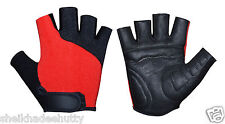 Real Leather Padded Perforate Palm Cycling Gym Training Sports Wheelchair Gloves