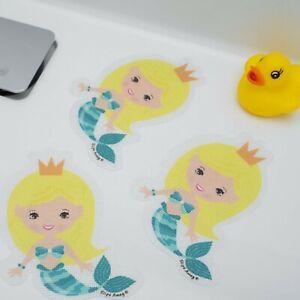 NON SLIP BABY BATH MAT CHILD SAFETY KIDS SHOWER CARTOON STICKERS 5x MERMAID