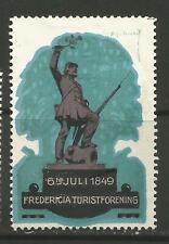 Denmark Fredericia Tourist Association advertising stamp/label