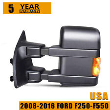 Tow Mirror Heat Signal Power Amber Driver Side Left for F250 F350 Super Duty