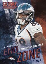 2014 Score Destination End Zone Blue #DE8 Demaryius Thomas Broncos