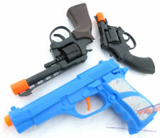 3x Toy Guns - Blue 9MM Pistol, .357 'Magnum' Cap Gun & Revolver Cap Gun