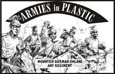 Armies in Plastic - World War I Mounted German Uhlans 54mm 1/32 WWI White