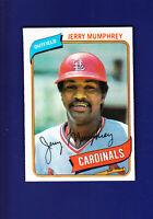 Jerry Mumphrey 1980 TOPPS Baseball #378 (NM+) St. Louis Cardinals