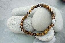 Mens Tigers Eye Gemstones with Hematite Buddha Bracelet Reiki Chakra Spiritual